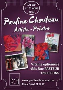 Pauline Chouteau - Affiche Expo Pons Aout 2019