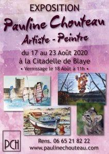 Pauline Chouteau-Affiche Expo Blaye 2020